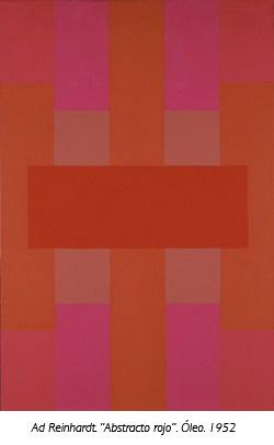 """Abstracto rojo"". óleo de Ad Reinhardt"