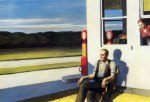 """Four lane road"" de Edward Hopper"