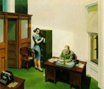 """Office at night"" de Edward Hopper"