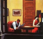 """Room in Mew York"" de Edward Hopper"