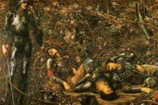 El príncipe entrando en el bosque de Briar. Edward Burne-Jones
