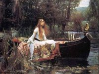 The lady of Shallot. John William Waterhouse