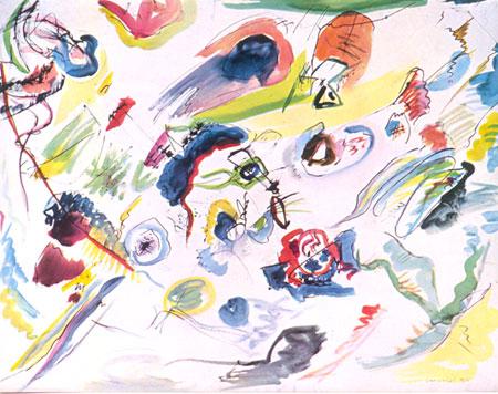 primera acuarela abstracta de kandinsky