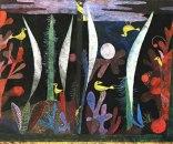 Paisaje con pájaros amarillos Paul Klee