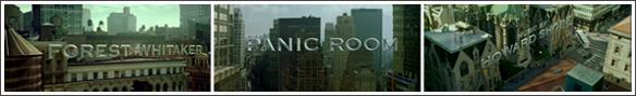 créditos iniciales de La habitación del pánico