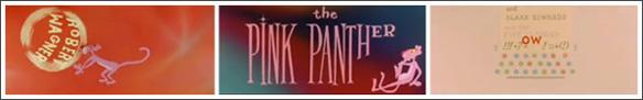 créditos iniciales de La pantera rosa