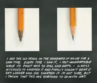 The pencil story. John Baldessari