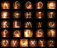 Nir Tober. Fire Poi Typography