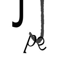 Composición tipográfica inquietante