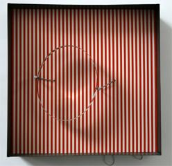 Julio Le Parc-Contorsión del círculo en el marco de red