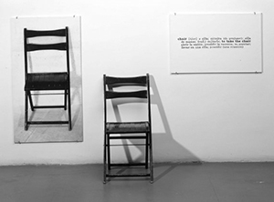 Joseph Kosuth-One and three chairs